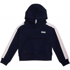 Converse Cropped Hoodie Obsidian/Arctic Punch