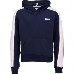 Converse Junior Cropped Hoodie Obsidian/Arctic Punch