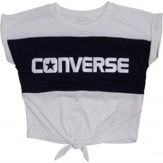 Converse Colourblocked Tie Front White