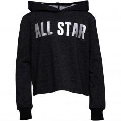 Converse Junior All Star Cropped Hoodie Black