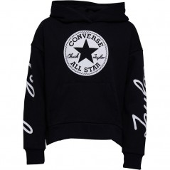 Converse Junior Chuck Taylor Script French Terry Hoodie Black