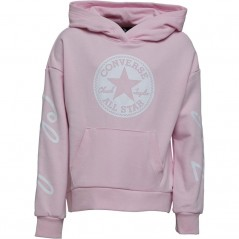 Converse Junior Chuck Taylor Script French Terry Hoodie Pink Foam