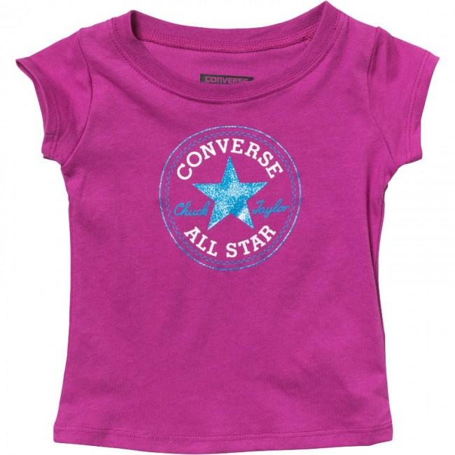 Converse Chuck Patch T-Pink Sapphire