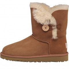 UGG Junior Bailey Button Chestnut