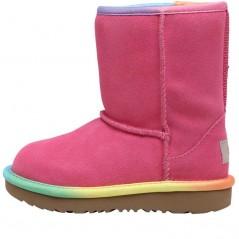 UGG Toddler Classic Short II Rainbow Classic Pink Azalea