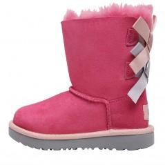 UGG Toddler Bailey Bow II Classic Pink Azalea/Icelandic Blue