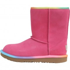 UGG Junior Classic Short II Rainbow Pink Azalea