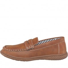 Mad Wax Junior Penny Loafer Tan