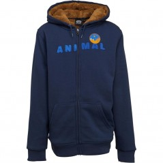 Animal Junior Scout Hoodie Dark Navy