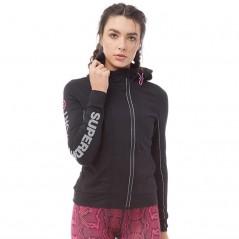 Superdry Sport Gym Hoodie Black