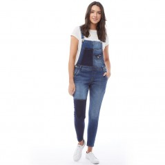 Superdry Emmins Dungarees Patched Indigo